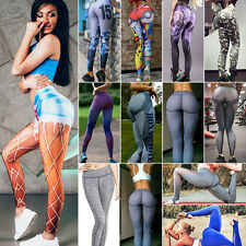 Women Sports Leisure Trouser Yoga Workout Gym Leggings Fitness Elastic Pants HOT