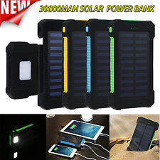 300000mAh Dual USB Portable Solar Battery Charger Solar Power Bank For Cellphone