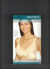 WARNERS 1503 UNDERWIRE WITH SATIN AND LACE CLASSIC IN BEIGE