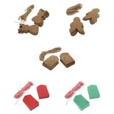 100 Kraft Paper String Price Tags Gift Label Wedding Favor Xmas Tree Decorations