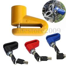 Motorcycle Scooter Cycling Security Anti-theft Disk Disc Brake Rotor Wheel Lock
