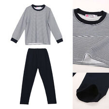 2PCS Kids Baby Boys long Sleeve stripe T-Shirt Tops + Pants Clothing Outfit set
