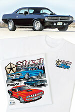 Mopar Street Warriors T-Shirt - Plymouth Hemi 'Cuda GTX 67 68 69 70 71