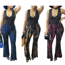 Fashion Women Sexy V Neck  Flares Wide Leg Palazzo Pants Loose Trousers Jumpsuit