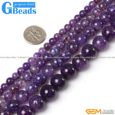 """Purple Dragon Veins Agate Round Beads For Jewelry Making Free Shipping 15"""""""