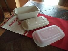 3 pc Tupperware Ultra 21  Loaf  Bread Pan Roaster 2 Qt  Oven Freezer Microwave