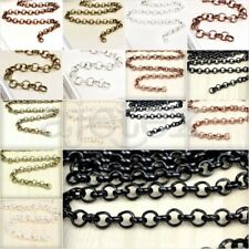 2 Sizes 6.56/13.12 feet 2/4m Rollo Chains Unfinished Chain Necklace Pendant