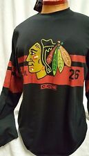 CHICAGO BLACKHAWKS MENS LONG SLEEVE JERSEY SHIRT CCM NEW WITH TAGS PICK SIZE