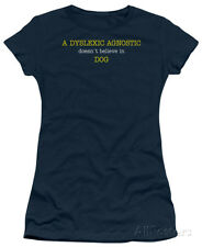 Juniors: Dyslexic Agnostic Apparel Juniors (Slim) T-Shirt - Navy