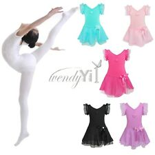Girls Kids Toddler Ballet Dance Dress Leotard Tutu Skirt Party Dancewear Costume
