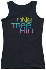 Juniors Tank Top: One Tree Hill - Color Blend Logo Apparel Tank Top - Black