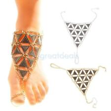 Beach Triangle Chain Anklet Ankle Bracelet Barefoot Sandal Beach Foot Jewelry