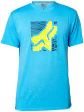 NEW FOX RACING MENS BLUE CONJUNCTION SS TECH SHORT SLEEVE S/S TEE SHIRT