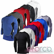 Mens Compression Baselayer Long Sleeve Under Skins T-Shirt Shirt Top Gym Apparel
