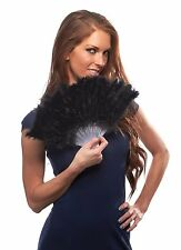 Tickled Pink Marabou Feather Folding Fan