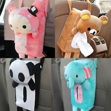 Cute Soft Plush Bear Animal Design Tissue Box Cover Car Accessories Home Decor Q