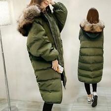 Winter Womens Parka Duck Down Coat Long Fur Collar Hooded Outwears Jacket Size@@
