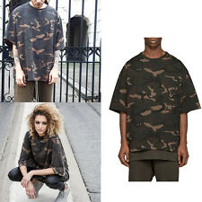 Summer Men Casual Short Sleeve Camouflage Hip Hop T-shirt Top Kanye West Style