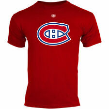 Old Time Hockey Montreal Canadiens Youth Big Logo Crest T-Shirt - Red - NHL