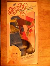 DOLLY PARTON VINTAGE UNUSED COAT OF MANY COLORS DOLL OUTFIT CLOTHING NEW NOS OLD