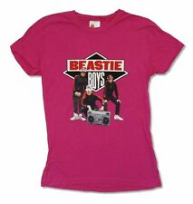 Beastie Boys Boombox Band Pic Image Pink Girls Juniors T Shirt New Official