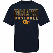 Georgia Tech Yellow Jackets Frame Baseball T-Shirt - Navy Blue - NCAA