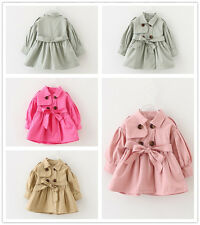 Toddler Infant Baby girls spring Fall double-breasted Coat wind Outerwear Jacket