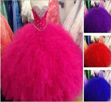New Beaded Quinceanera Dress Formal Prom Party Wedding Dresses Ball Gown Custom