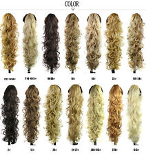 CW Hair-26'' 200g Women Long Curly Claw Clip In Hair Ponytails 14 Colors Choice