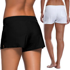 LADIES PLAIN BLACK OR NAVY SWIM SHORTS BIKINI SWIMWEAR BOY STYLE SHORT TANKINI