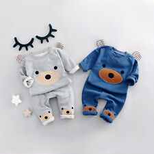 2pcs kids baby boy Little Bear topst+pants Outfits&set boy autumn clothes set