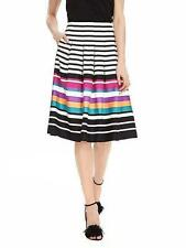 Banana Republic Multi Stripe Pleated Skirt/size 8/SOLD OUT!.NWT~SUMMER~BRAND NEW