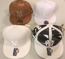 New York Yankees Flat Brim Fitted Caps by New Era, Twins,Cooperstown Collection