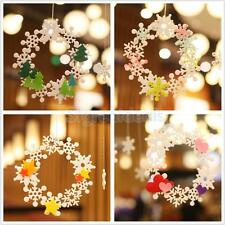 Snoflake Wreath Heart Star Felt Adhesive Wedding Decorations Hanging Ornaments