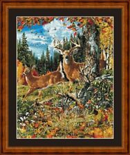 DEER - PDF/PRINTED X STITCH CHART 14/18 COUNT ARTWORK © STEVEN GARDNER