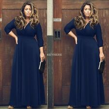 PLUS SIZE Women Long Maxi Summer Cocktail Party Evening Casual Long Maxi Dress
