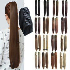 CW HAIR-16 color 21.6'' Long Straight Claw Clip Hair Ponytail Hair Extension
