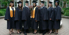 NEW Oak Hall Bachelor Black Graduation Cap with Tassel and Gown