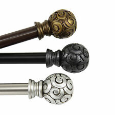 """Curtain Rod 3/4"""" OD #17 choose from 3 colors & 4 sizes 28""""-170"""""""