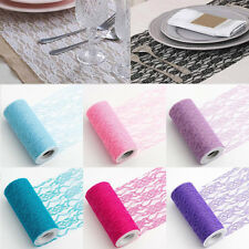 New Hollow Lace Roll Wedding Chair Sash Floral Venue Decor Table Runner 15cmx22M