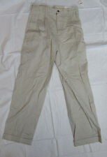 NWT Brooks Brothers Khaki Beige ELLIOT Chino Relaxed Fit Cuffed Men's Pants NOS