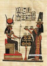 """Egyptian Papyrus Painting -  Queen Nefertary offers 8X12"""" + Hand Painted #54"""