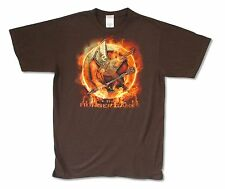 The Hunger Games Mockingjay Mens Brown T-Shirt New Official Adult Medium M