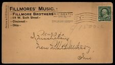 Cincinnati Ohio Fillmores Music Advertising cover With Machine Cancel
