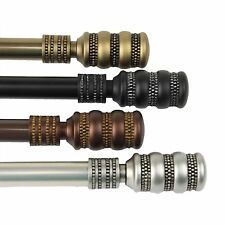 """Curtain Rod 3/4"""" OD #09 choose from 4 colors & 4 sizes 28""""-170"""""""