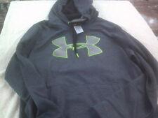 NWT Under Armour Storm 1 hooded pullover, men's L, gray, polyester, loose fit