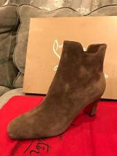 Christian Louboutin TIAGADABOOT 70 Suede Ankle Bootie Boots Heels Brown $945