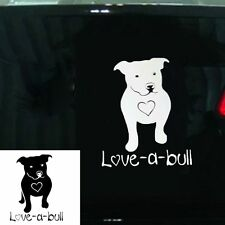 Colors Truck Laptop Vinyl Sticker Car Decal Love A Bull Dog Heart