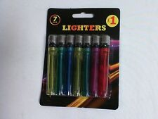 Packs of 7 Bargain Disposable Cigarette Gas Lighters - Pound Shop Stock #Light2