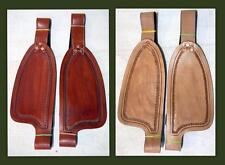 "Medium/ Tan Smooth leather Replacement Fenders for 10""  Kids Youth Small Saddle"